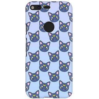 Mobicture Cat Pattern Premium Printed High Quality Polycarbonate Hard Back Case Cover For Google Pixel XL With Edge To Edge Printing
