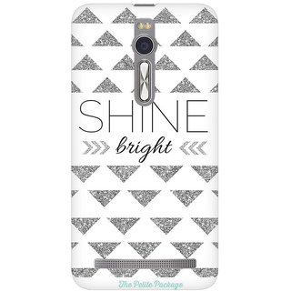 Mobicture Shine Quote Premium Printed High Quality Polycarbonate Hard Back Case Cover For Asus Zenfone 2 With Edge To Edge Printing
