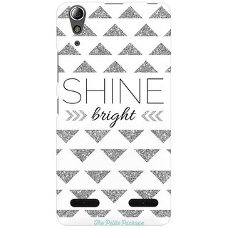 Mobicture Shine Quote Premium Printed High Quality Polycarbonate Hard Back Case Cover For Lenovo A6000 Plus With Edge To Edge Printing