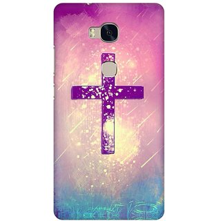 Mobicture Cross God Premium Printed High Quality Polycarbonate Hard Back Case Cover For Huawei Honor 5X With Edge To Edge Printing