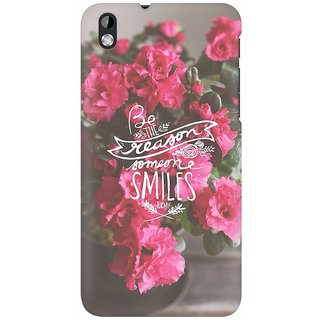 Mobicture Floral Smile Premium Printed High Quality Polycarbonate Hard Back Case Cover For HTC Desire 816 With Edge To Edge Printing