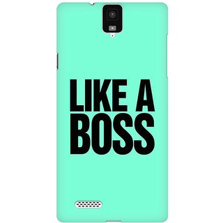Mobicture Like A Boss Premium Printed High Quality Polycarbonate Hard Back Case Cover For InFocus M330 With Edge To Edge Printing