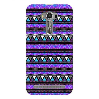 Mobicture Purple Geometry Premium Printed High Quality Polycarbonate Hard Back Case Cover For Asus Zenfone Selfie With Edge To Edge Printing