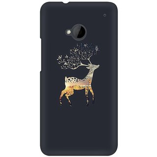 Mobicture Deer Abstract Premium Printed High Quality Polycarbonate Hard Back Case Cover For HTC One M7 With Edge To Edge Printing