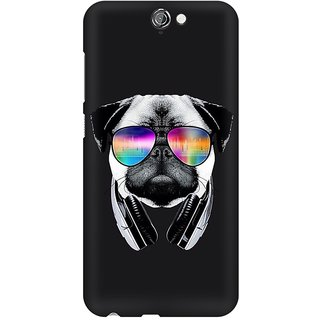 Mobicture Pug Swag Premium Printed High Quality Polycarbonate Hard Back Case Cover For HTC One A9 With Edge To Edge Printing