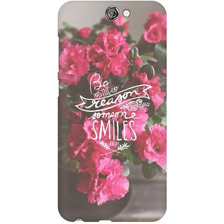Mobicture Floral Smile Premium Printed High Quality Polycarbonate Hard Back Case Cover For HTC One A9 With Edge To Edge Printing