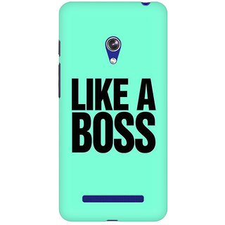 Mobicture Like A Boss Premium Printed High Quality Polycarbonate Hard Back Case Cover For Asus Zenfone Go With Edge To Edge Printing
