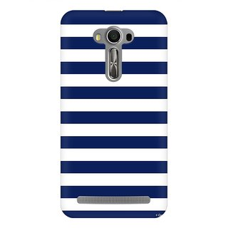 Mobicture Blue White Geometric Premium Printed High Quality Polycarbonate Hard Back Case Cover For Asus Zenfone 2 Laser ZE500KL With Edge To Edge Printing