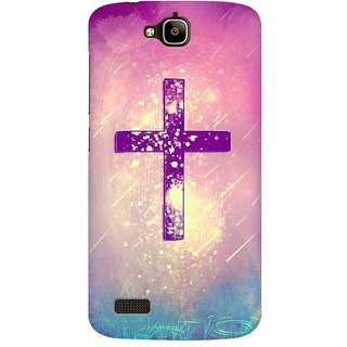 Mobicture Cross God Premium Printed High Quality Polycarbonate Hard Back Case Cover For Huawei Honor Holly With Edge To Edge Printing