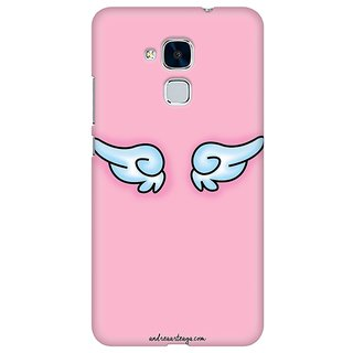 Mobicture Pink Angel Premium Printed High Quality Polycarbonate Hard Back Case Cover For Huawei Honor 5c With Edge To Edge Printing