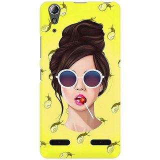 Mobicture Girly Premium Printed High Quality Polycarbonate Hard Back Case Cover For Lenovo A6000 Plus With Edge To Edge Printing