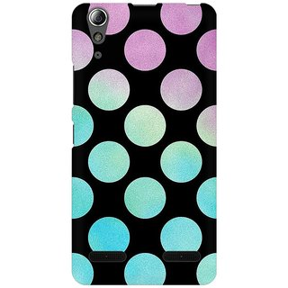 Mobicture Big Polka Dots Premium Printed High Quality Polycarbonate Hard Back Case Cover For Lenovo A6000 With Edge To Edge Printing