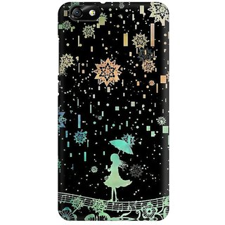 Mobicture Glitter Rain Lady Premium Printed High Quality Polycarbonate Hard Back Case Cover For Huawei Honor 4X With Edge To Edge Printing