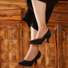 TEN Women's Black Heels