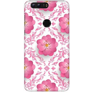 Mobicture Pink Geometric Pattern Premium Printed High Quality Polycarbonate Hard Back Case Cover For Huawei Honor 8 With Edge To Edge Printing