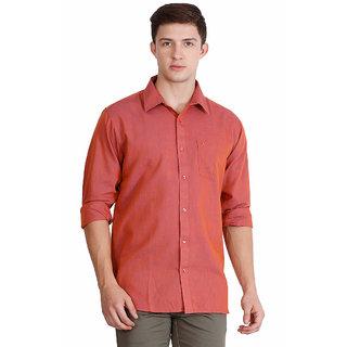 JDC URBAN-FIT  Men's Orange color Full sleeve Cotton Shirt's