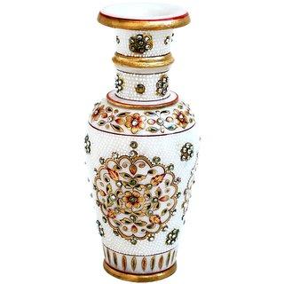 Gold Embossed Marble Flower Vase