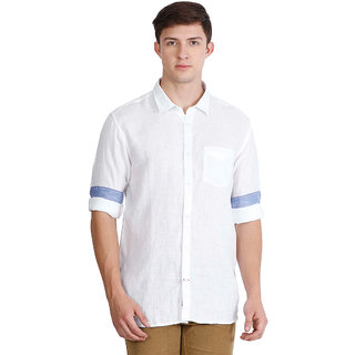 JDC URBAN-FIT  Men's White color Full sleeve Cotton Shirt's