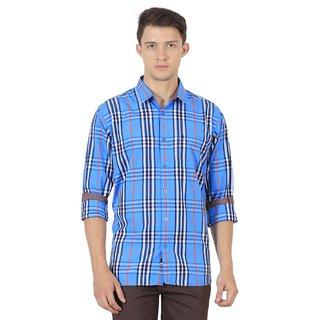 JDC Urban Fit Men'S Blue Color Cotton Shirts
