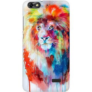 Mobicture Abstract Lion Premium Printed High Quality Polycarbonate Hard Back Case Cover For Huawei Honor 4C With Edge To Edge Printing