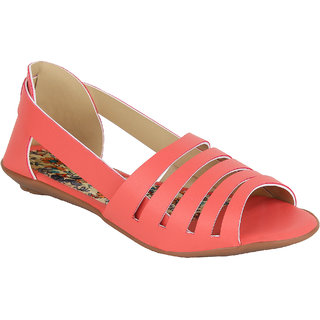 Glitzy Galz Flats for Women peach