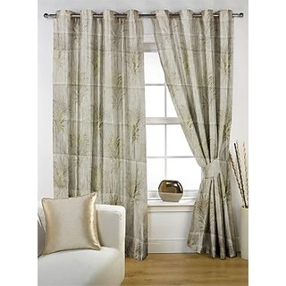 Story@Home Premium Cream Jacquard Berry Door Curtain-DBR1030