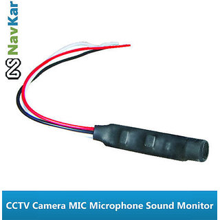 Set of 4 Mics High Sensitivity Microphone Sound Monitor For CCTV Security Camera