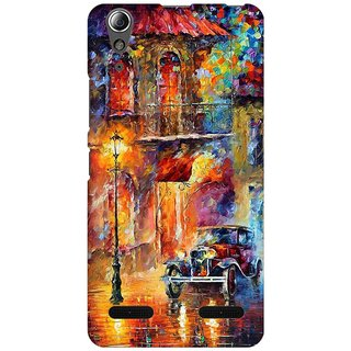 Mobicture Oil Painting Car Premium Printed High Quality Polycarbonate Hard Back Case Cover For Lenovo A6000 Plus With Edge To Edge Printing