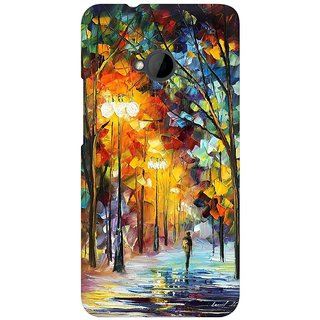 Mobicture Abstract Design Premium Printed High Quality Polycarbonate Hard Back Case Cover For HTC One M7 With Edge To Edge Printing