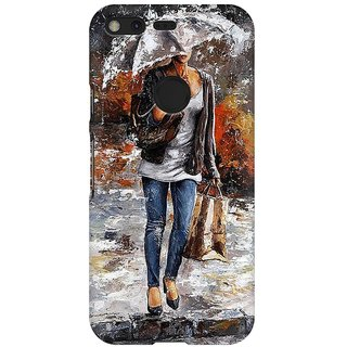 Mobicture Abstract Design Premium Printed High Quality Polycarbonate Hard Back Case Cover For Google Pixel With Edge To Edge Printing