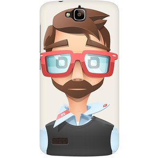 Mobicture Nerd Boy Premium Printed High Quality Polycarbonate Hard Back Case Cover For Huawei Honor Holly With Edge To Edge Printing