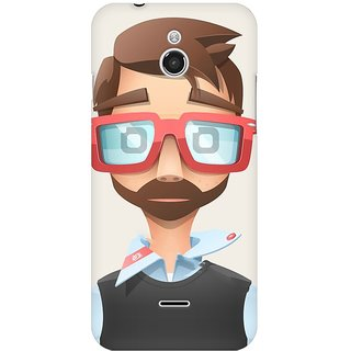 Mobicture Nerd Boy Premium Printed High Quality Polycarbonate Hard Back Case Cover For InFocus M2 With Edge To Edge Printing