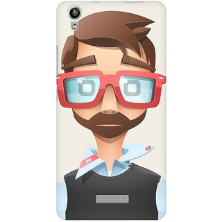 Mobicture Nerd Boy Premium Printed High Quality Polycarbonate Hard Back Case Cover For Lava Pixel V1 With Edge To Edge Printing
