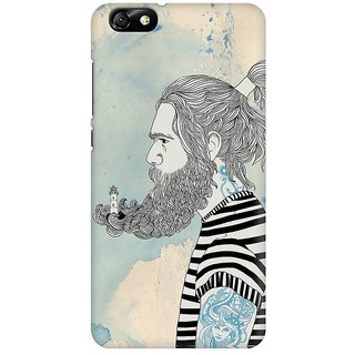 Mobicture Abstract Design Premium Printed High Quality Polycarbonate Hard Back Case Cover For Huawei Honor 4X With Edge To Edge Printing