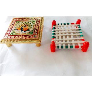 Religious Spritiual Combo - Chowki and Royal Khaat