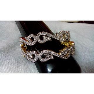 Designer American diamond bangles 2.8