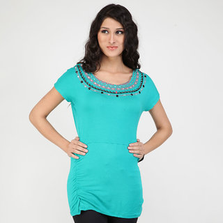 Strawberry T-Shirts for Women - Sea Green