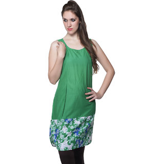 W - Women Printed Cotton Kurta Green
