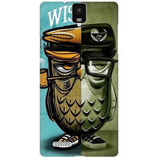 Mobicture Wise Owl Premium Printed High Quality Polycarbonate Hard Back Case Cover For InFocus M330 With Edge To Edge Printing