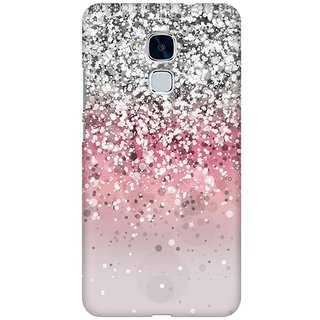 Mobicture Pink Glitter Premium Printed High Quality Polycarbonate Hard Back Case Cover For Huawei Honor 5c With Edge To Edge Printing