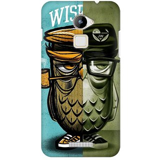 Mobicture Wise Owl Premium Printed High Quality Polycarbonate Hard Back Case Cover For Coolpad Note 3 Lite With Edge To Edge Printing