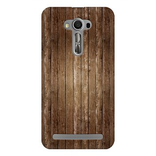 Mobicture Abstract Wooden Pattern Premium Printed High Quality Polycarbonate Hard Back Case Cover For Asus Zenfone 2 Laser ZE500KL With Edge To Edge Printing