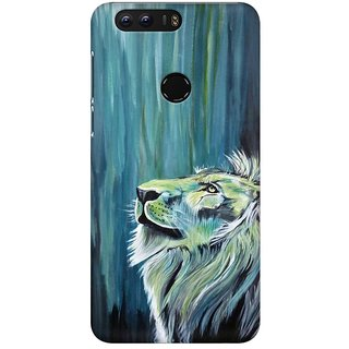 Mobicture Mighty Lion Premium Printed High Quality Polycarbonate Hard Back Case Cover For Huawei Honor 8 With Edge To Edge Printing