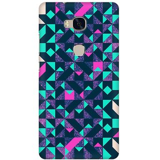 Mobicture Abstract Design Premium Printed High Quality Polycarbonate Hard Back Case Cover For Huawei Honor 5X With Edge To Edge Printing