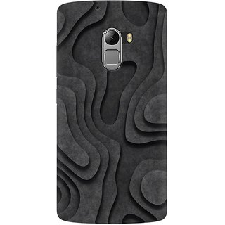 Mobicture Abstract Black Wood Premium Printed High Quality Polycarbonate Hard Back Case Cover For Lenovo A7010 With Edge To Edge Printing