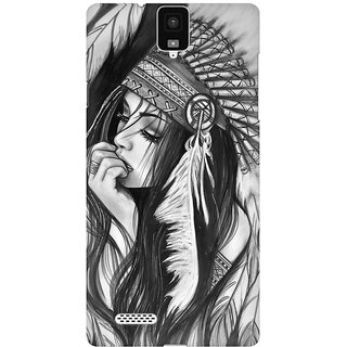 Mobicture Tribal Girl Premium Printed High Quality Polycarbonate Hard Back Case Cover For InFocus M330 With Edge To Edge Printing