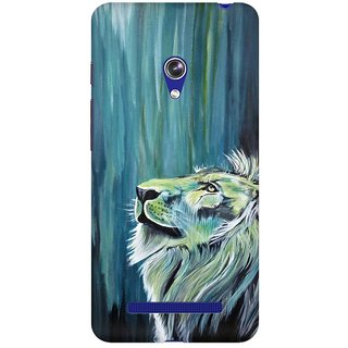 Mobicture Mighty Lion Premium Printed High Quality Polycarbonate Hard Back Case Cover For Asus Zenfone 5 With Edge To Edge Printing