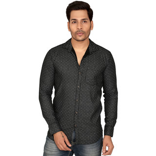 Men's Casual Solid Cotton Shirt