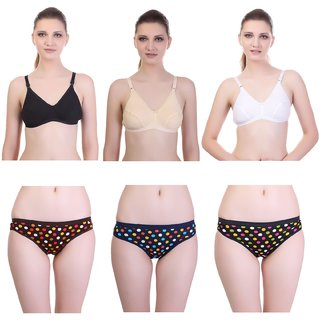 0660076e45420 Buy Keoti Printed Cotton Bra Panty Combo - Pack of 6 Online - Get 61% Off
