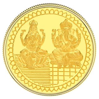 2GM Gitanjali Laxmi-Ganesh 999-24Kt Gold Coin